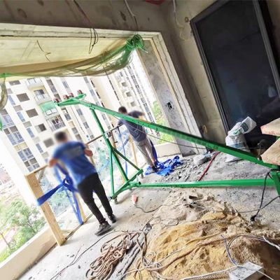 移动斜臂式门窗玻璃吊机高层吊玻璃