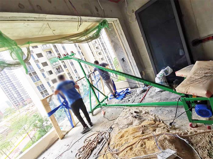 门窗玻璃吊机使用现场