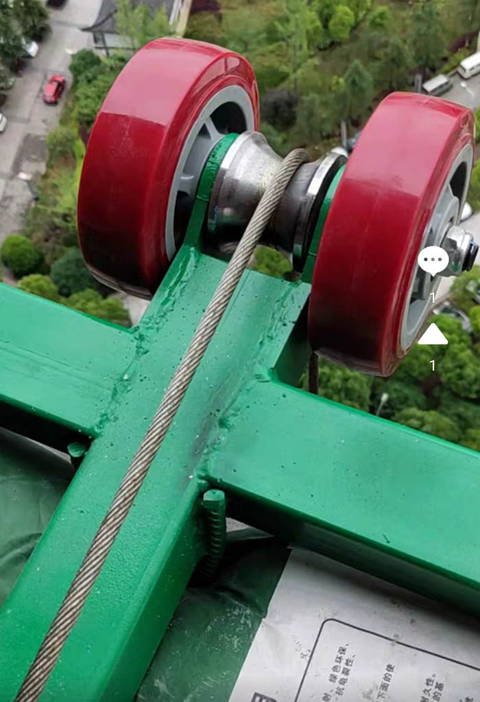 双电动门窗小型吊机使用现场
