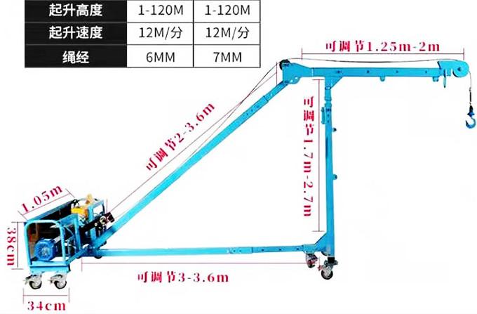 750KG移动直臂吊玻璃吊机