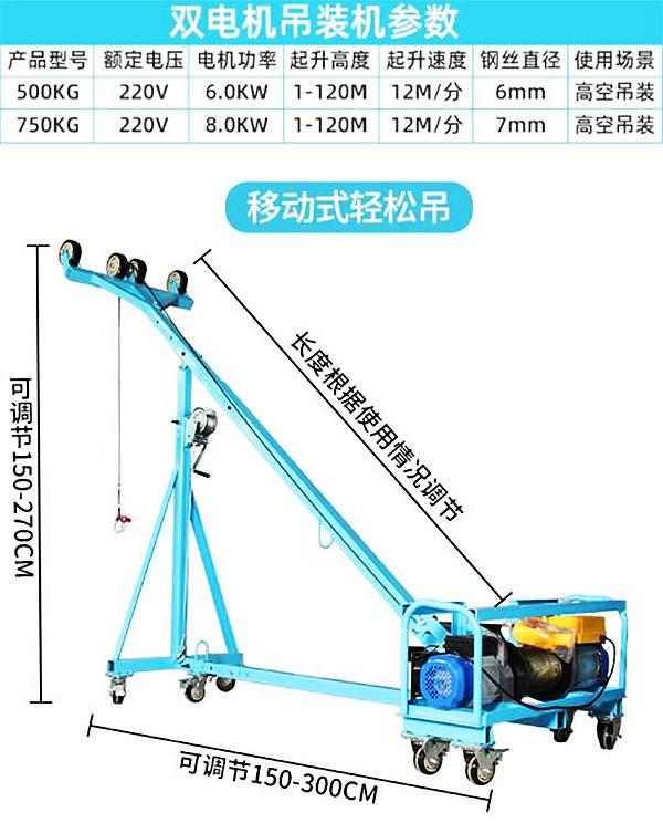 吊窗机规格型号尺寸
