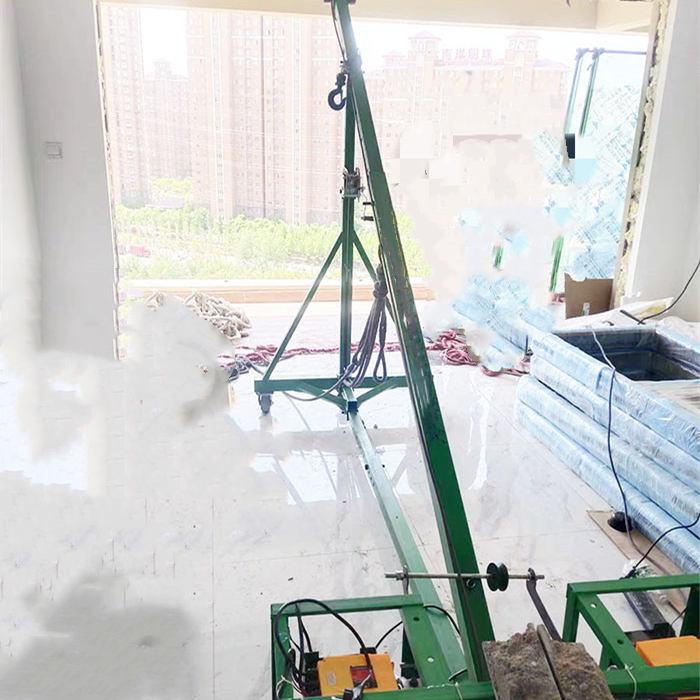 移动斜臂门窗吊机提升系统门窗现场